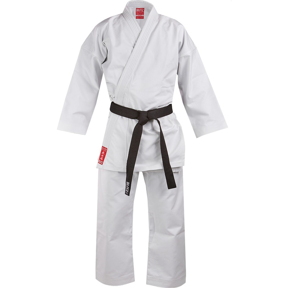 Kids Silver Tournament Karate Suit - 14oz