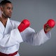 SMAI WKF Approved Gloves With Thumb - Lifestyle
