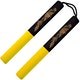 Blitz Yellow / Black Foam Cord Nunchaku