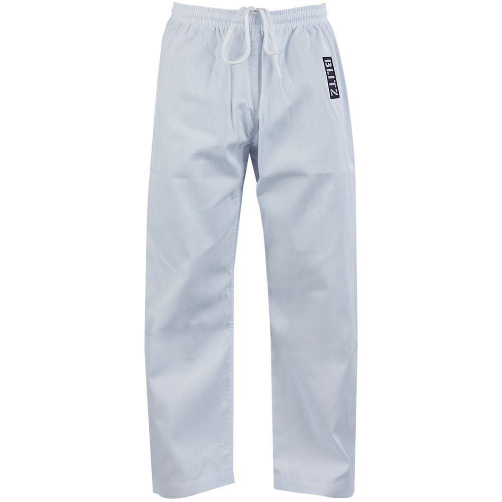 Image of Blitz Adult Student Martial Arts Trousers - 7oz - White