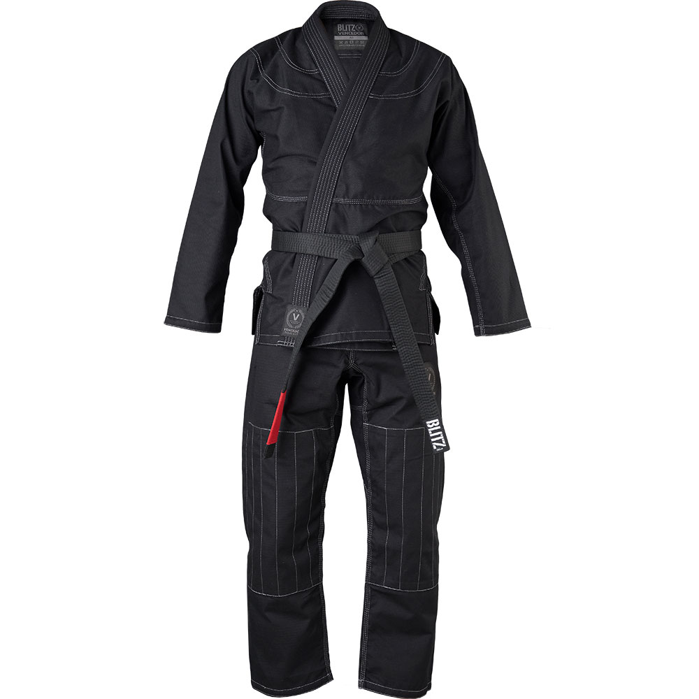 Image of Blitz Adult Vencedor Brazilian Jiu Jitsu Gi - Black