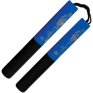 Blitz Black / Blue Foam Safety Cord Nunchaku
