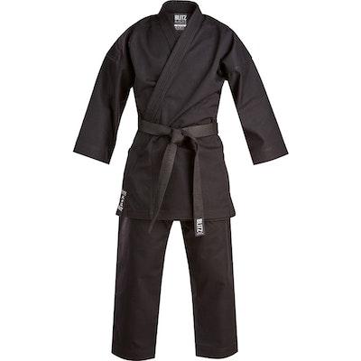 Blitz Black Challenger Karate Suit - 14oz