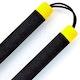 Blitz Black / Yellow Tip Foam Cord Nunchaku - Detail 1