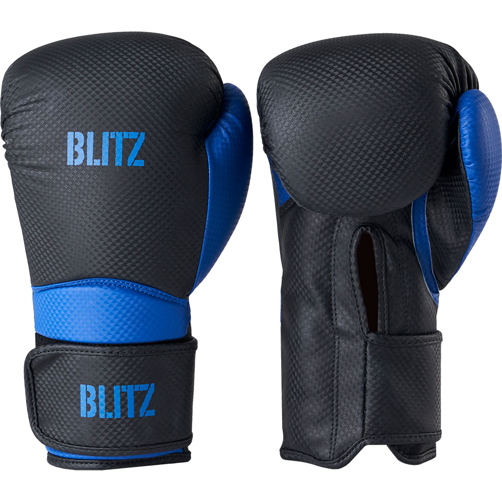Image of Blitz Centurion Boxing Gloves - Black / Blue - 10oz