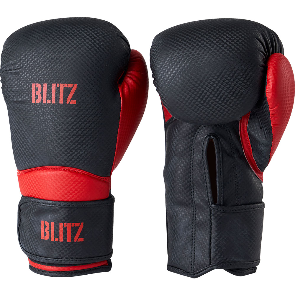 Image of Blitz Centurion Boxing Gloves - Black / Red - 10oz