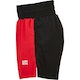 Blitz Diablo Training Fight Shorts in Red - Side