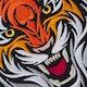 Blitz Embroidered Badge - Tiger Head - Detail 1