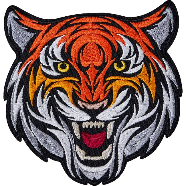 Blitz Embroidered Badge - Tiger Head