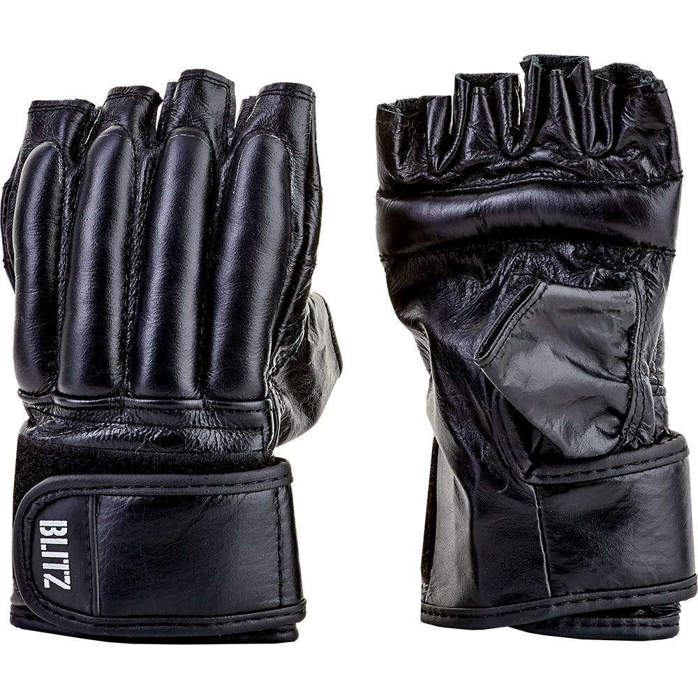 Boxing-Mad Leather Fingerless Bag Glove Black X-Large