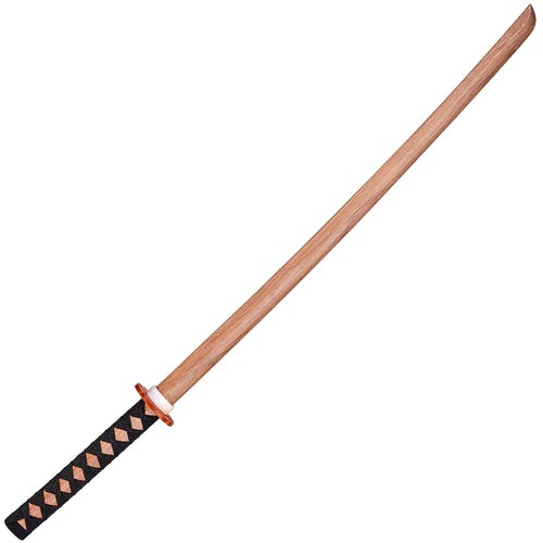 Blitz Japanese Red Oak Bokken With Black Handle