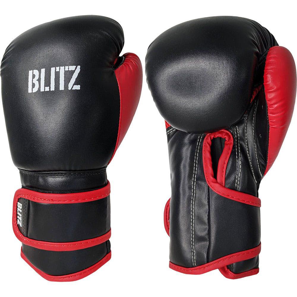 Image of Blitz Kids Kickboxing Gloves - Black / Red