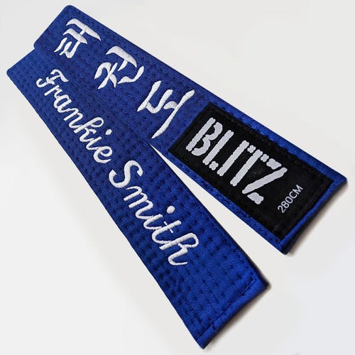 Blitz Personalised Student Embroidered Belt - Essential Korean Design