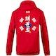 Blitz Taekwondo Training Hooded Top in Red - Back