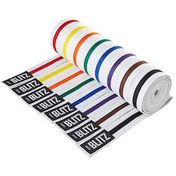 Blitz White Belt / Colour Stripe