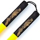 Blitz Yellow / Black Foam Cord Nunchaku - Detail 1