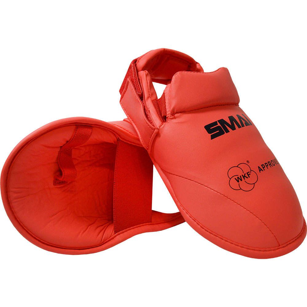 Image of SMAI WKF Approved Foot Guards - Red