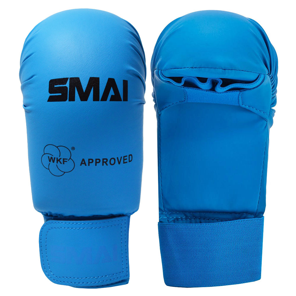 Image of SMAI WKF Approved Mitts Without Thumb - Blue