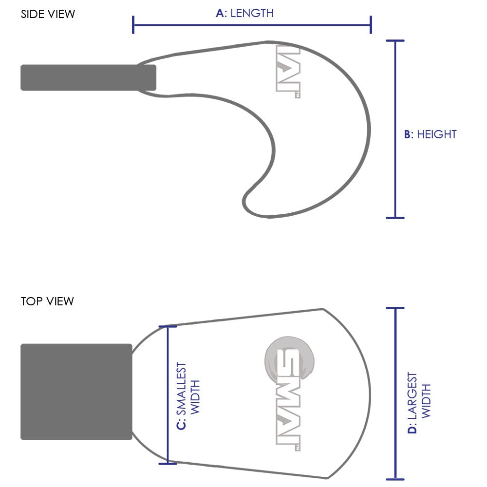SMAI WKF Approved Mitts Without Thumb Size Chart