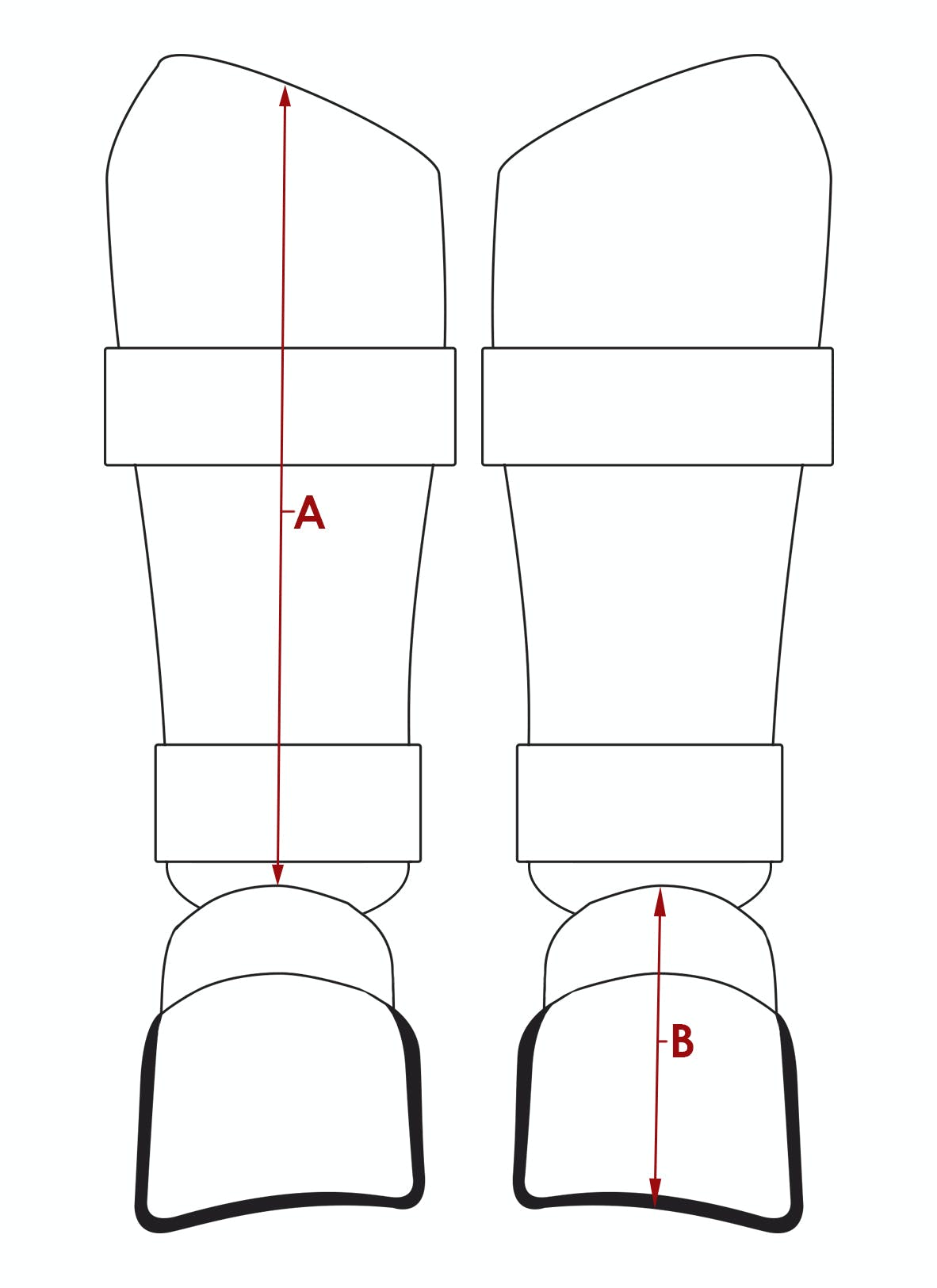 Elite Shin With Removable Foot Diagram